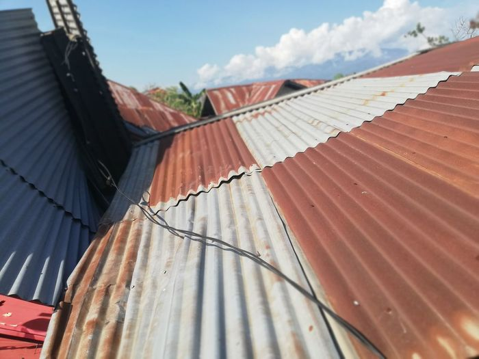 Metal roof from