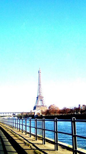 Architecture Blue Sky Paris Seine River Quiet Moments No People