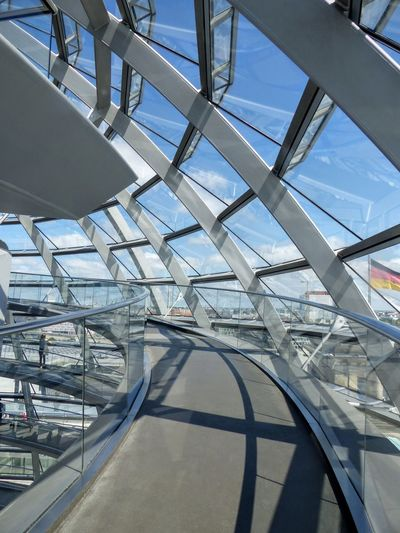 German Parliament Iron - Metal Rooftop Glasses Sunny Day 🌞 Blue Clear Sky Berlin Germany 🇩🇪 Deutschland Berlin Germany Built Structure Day Modern No People Outdoors Reichtagsgebäude Sky Discover Berlin Spiral Staircase Skylight Spiral Tall - High