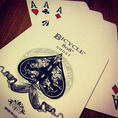 BicycleWhiteGhost Playingcards Ace