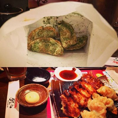 I want these more!! Green tea gyoza and original one.. Musttry