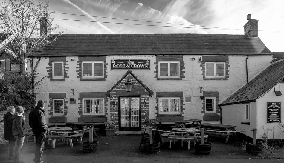 Rose and Crown, Hartwell,. Closed Saturday Lunch time - beware. Architecture Monochrome Photography Black And White FUJIFILM X-T2 Buckinghamshire Pubs Pub Buckinghamshire Monochrome