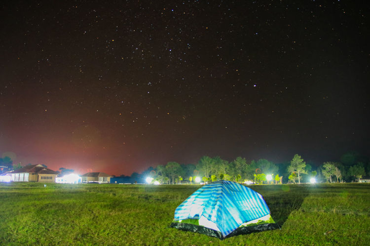 Night Sky Star - Space Illuminated Nature Tent Camping Land Scenics - Nature Field Grass Beauty In Nature Tranquility Outdoors No People Landscape Tranquil Scene Environment Space