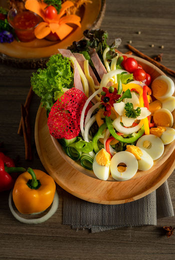 Mix salad with