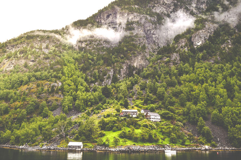 A medieval fjord farm in Norway Farm Fjord Fjord F Fjords Fjordsofnorway Geirangerfjord Green Landscape Mountain Mountains No People Non-urban Scene Norway Remote Scenic Tranquil Scene Travel Destinations