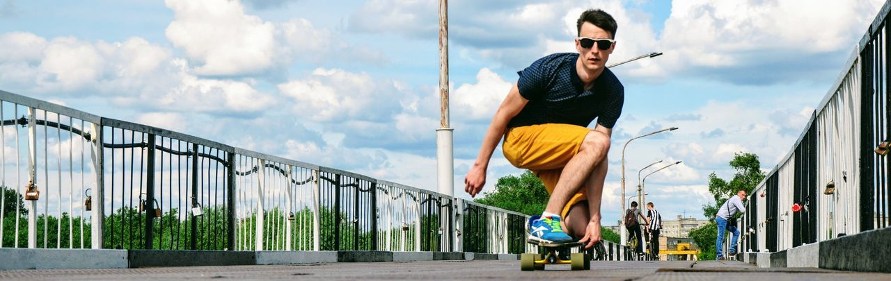 One Man Only One Person Only Men Cloud - Sky Sky Men Sport Healthy Lifestyle City Real People People Activity Lifestyles Belarus Longboard