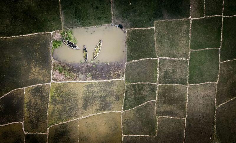 Aerial Shot Bangladesh Boats⛵️ Holiday POV Flying High