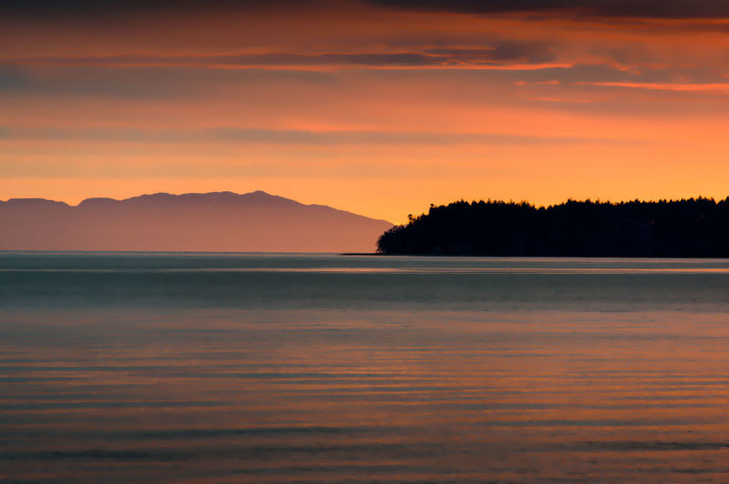 Beauty In Nature Cloud - Sky Day Landscape Mountain Nature No People Outdoors Scenics Sea Silhouette Sky Sunset Tranquil Scene Tranquility Tree Water