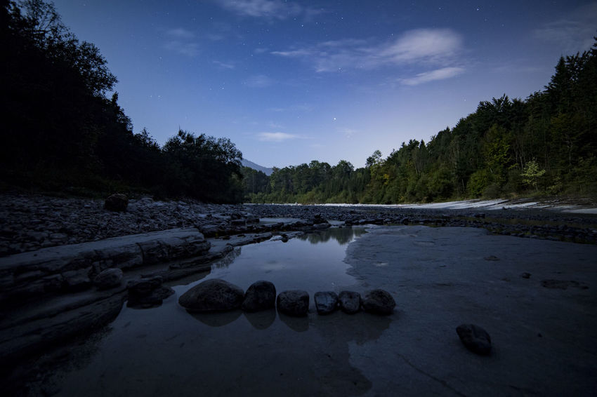 Stones in the river Austria Landscape Long Exposure Nature Night No People River Rocks Scenics Sky Stars Stones Tranquil Scene Tranquility Water