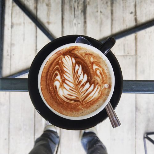 EyeEm Selects Froth Art Human Hand Cappuccino Frothy Drink Latte Drink Directly Above Coffee - Drink Table Coffee Cup