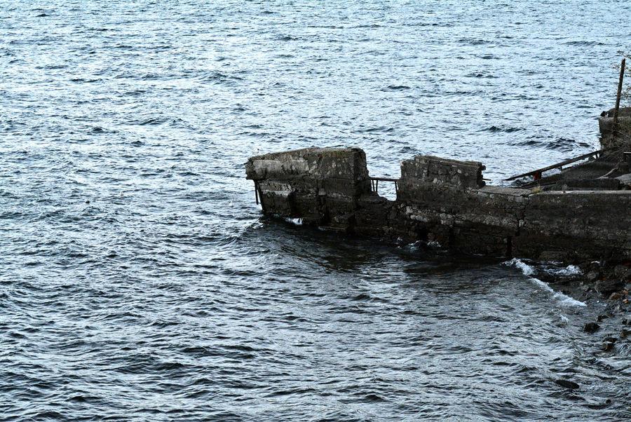 Stones, concrete and water - Lake Como in Como, Lombardy, Italy. Blue Comoirma Italia Italy Lago Lake Lake Como Lario Lombardy Lombok Nature Water Waterfront