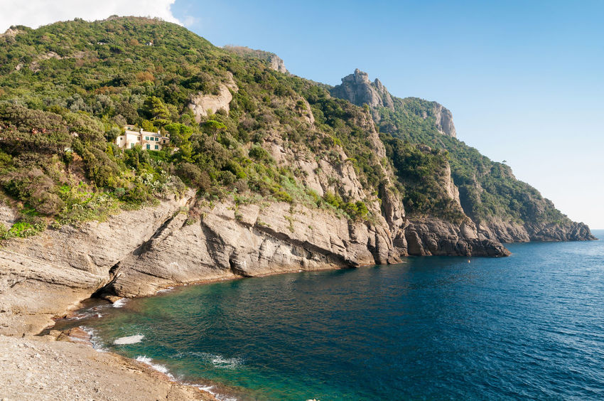 Punta Chiappa Beach Blue Camogli Cape  Cliff Coastal Feature Coastline Geology Landscape Levante Liguria Ligurian Coast. Ligurian Sea Liguriansea Nature Outdoors Punta Chiappa Rock - Object Scenics Sea Tourism Travel Destinations Turquoise Vacations Water
