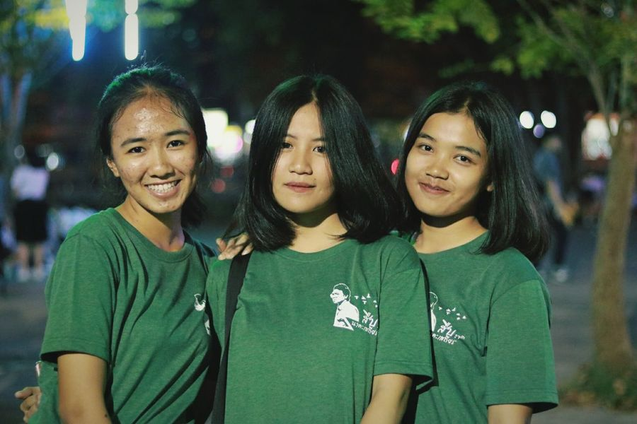 Green Color Friendship Happiness Night