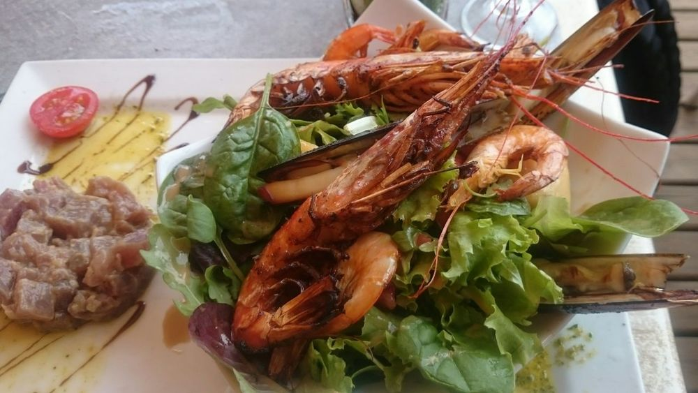 Salade du pecheur. Perfect for the seaside.