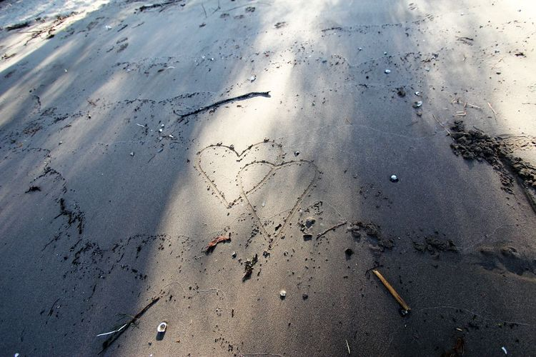 Hearts in the Sand Beach Wedding Hearts In Nature Hearts In The Sand Two Hearts One Life Two Hearts Became One Two Hearts Loving Wedding On A Beach Wedding Photography Beach Day Hearts In Sand High Angle View Land Nature No People Outdoors Sand Two Hearts Two Hearts As One Two Hearts Beat As One Two Hearts Beating As One Water Wedding On The Beach Wet