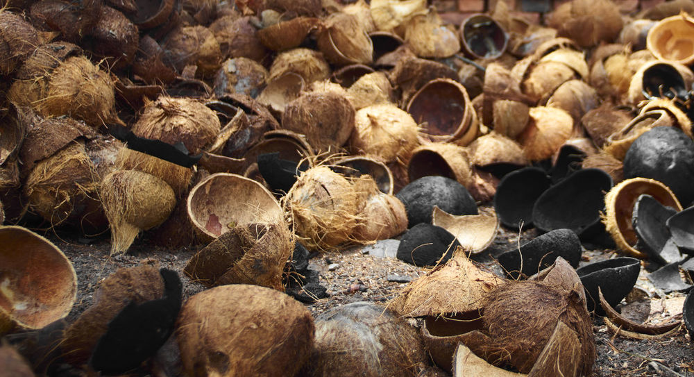 Backgrounds Close-up Coconuts Day Full Frame Large Group Of Objects Nature No People Outdoors Stack Vietnam Vietnamphotography
