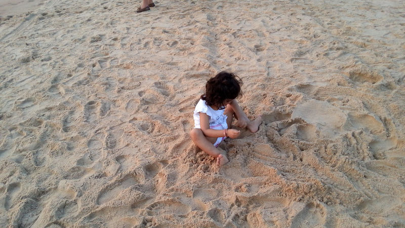Sunset in Goa Beach Boys Child Childhood Children Only Day EyeEmNewHere Full Length Girls High Angle View Nature One Person Outdoors People Playing Rakeshtiwari Real People Sand Sitting Summer Vacations Live For The Story