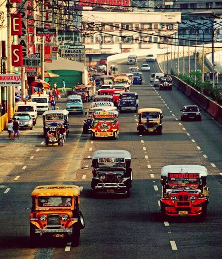 The beautiful City of Manila Philippines. Manila Philippines Mobility In Mega Cities Transportation Car Traffic Road City City Street City Life Street Outdoors