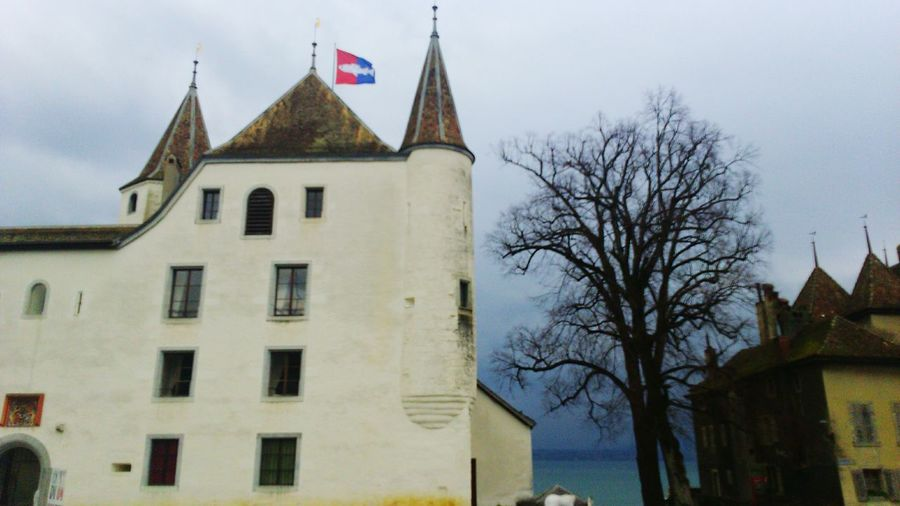 Castle Nyon Switzerland Lac Winter Enjoying Life Hanging Out Medieval MedievalTown Clouds Stormy Weather Stormy Day Suisse  Suisse Romande