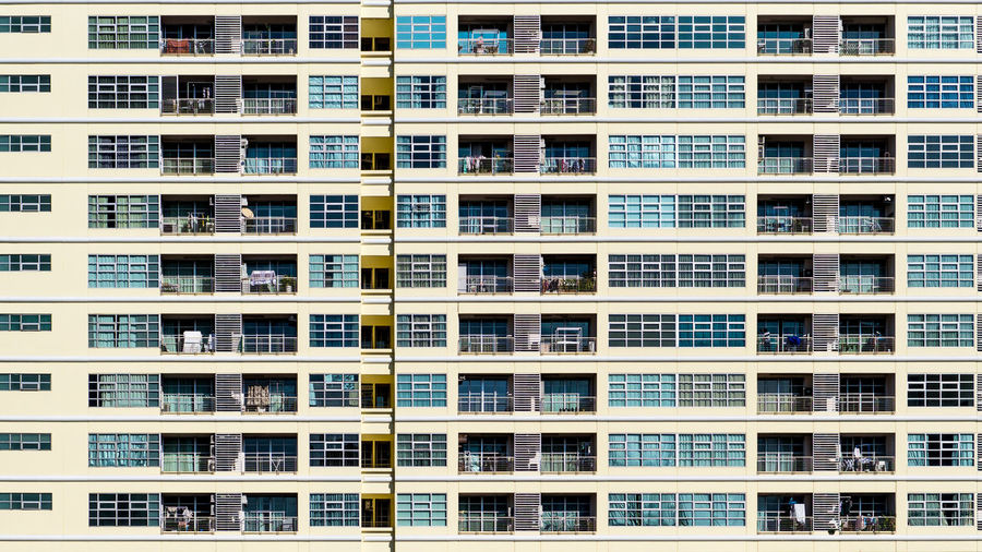 Angle View of Modern Building. Look Up Structure, perspective view building, industrial architecture Building Exterior Architecture Built Structure Window Residential District Building City Full Frame Apartment No People Pattern Repetition Day In A Row Outdoors Modern Backgrounds Balcony Nature Sunlight Skyscraper Housing Development The Art Of Street Photography My Best Photo