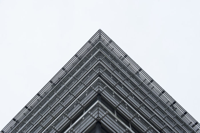 triangle Architecture Architecture Building Exterior Built Structure Clear Sky Day Low Angle View No People Outdoors Sky Tokyo Triangle
