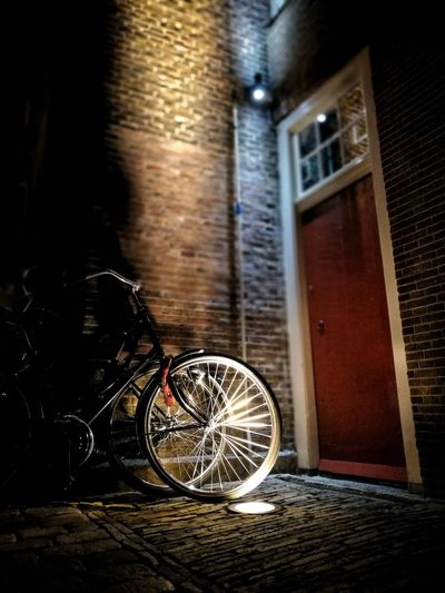 Building Exterior Night Built Structure Architecture No People Pedal Outdoors Close-up Tire Cycling Bycicle Bycicle Lovers Bycicle Photography Bycicle Parking Amsterdam Amsterdamcity Amsterdam City Transportation