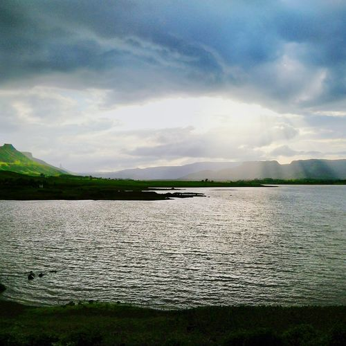 Trip to valdevi dam . India Unmeshshirsath Usphotography Contrast Hanging Out Seaside Sky Beautiful Sea And Sky Water