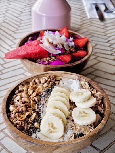 Açai Bowl Healthy Eating Acai Bowl Food Food And Drink Freshness Indoors  Sweet Food High Angle View Dessert Indulgence