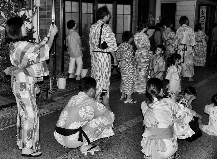 Large Group Of People Real People Watching Fireworks Blackandwhite Night Japan Kinosaki