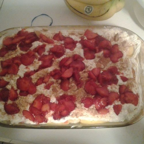 You cant tell me I do it the best!!! Bannanapudding Withstrawberries