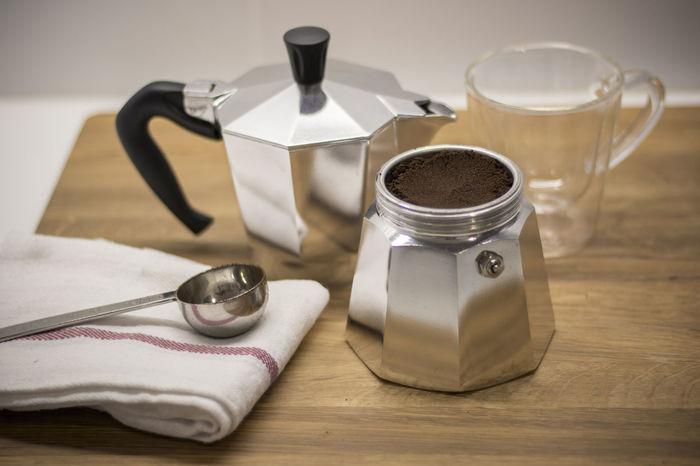 Coffee Coffee Pot Day Espresso Indoors  Mokapot No People Wooden