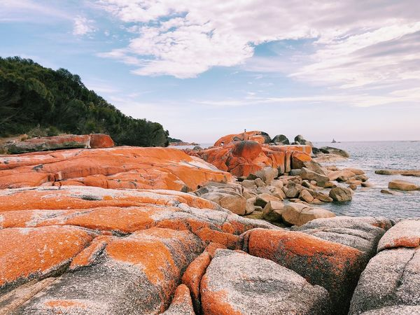 Bay Of Fires Sky Cloud - Sky Rock - Object Nature Beauty In Nature Tranquil Scene Tranquility