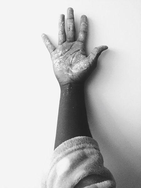 Pattern Pieces Hand Palm Blackandwhite Skin Baking Flour Working Hands