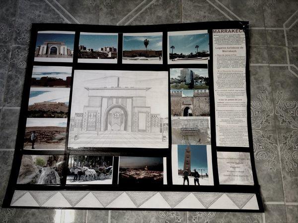 Proyectos de clase...! Paseos Por Marrakech Marrakech Drawing Picture ??✌️