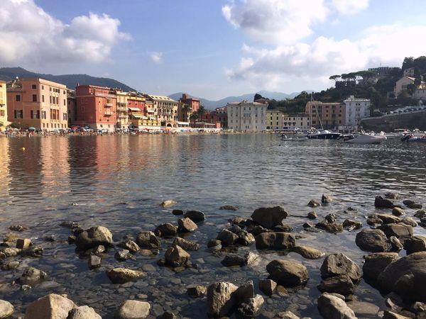 Italia Sestri Levante Baia Del Silenzio Sun Sea Relaxing Taking Photos