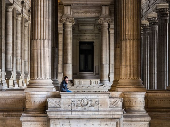 Belgium Palace Of Justice Bruxelles Architectural Column Architecture Built Structure History One Person Courthouse Government Travel Destinations Sitting Smoking Adult Historical Building Pondering Pondering The Meaning Of Life Deep Thought Thinking Alone Solo Lone Solitude Palais De Justice