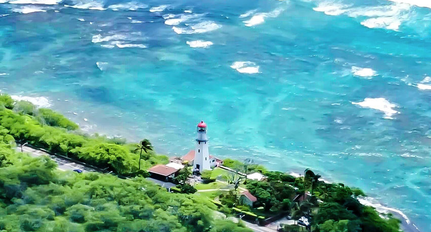 Lighthouse Water Mountain Outdoors Nature Travel Destinations Beauty In Nature Building Exterior Architecture Landscape Seaside Waterline Tropical Paradise Old Lighthouse Old Lighthouse And The Sea Old Buildings Oceanview Beach Flying High