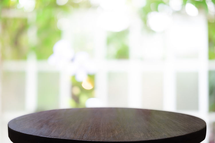 Close-up of table against wall