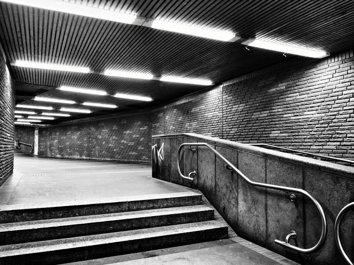 Black & White Underground Tunnel Empty Places in Bonn