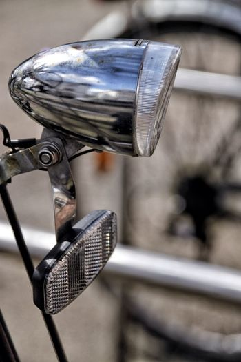 Close-Up Of Bicycle Headlight
