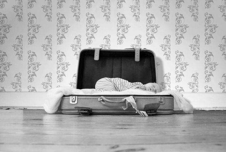 Newborn Plank Small Baby Sleeping Luggage EyeEm Selects Luggage Indoors  Suitcase Pattern Furniture Absence Retro Styled Home Interior Bag Floral Pattern Wallpaper