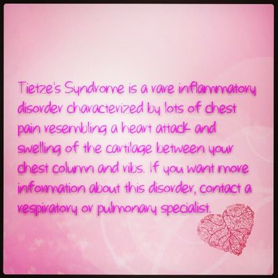 Tietze's Syndrome can be controlled!!! Pulmonary Respiratory Seeadoctorasap Immediatetreatment chestpains cartilageswelling