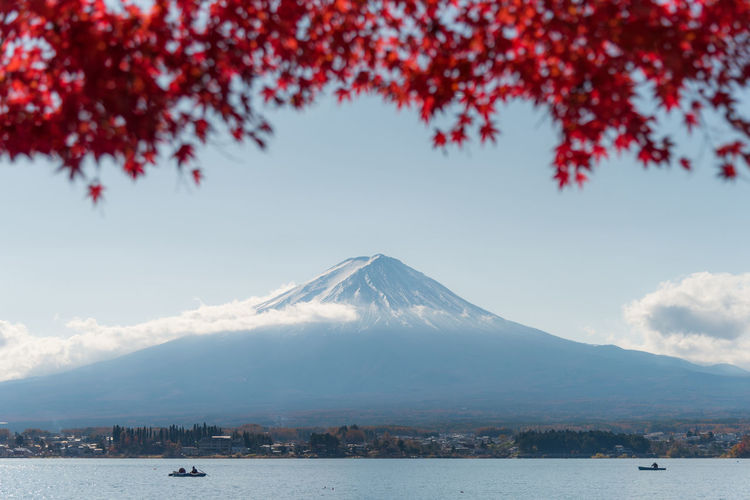 Autumn season on Kawaguchiko lake in Japan. This lake is really famous with Fuji mountain view with Maple leaves in Autumn, or Cherry blossom blooming in spring season. ASIA Autumn Autumn Japan Autumn colors Autumn Landscape Fuji Mountain Japan Japan Mountains Kawaguchiko Asia Travel Autumn Lake Autumn🍁🍁🍁 Beauty In Nature Boat Fuji Fujiyama Japan Autumn Flowers Japan Travel Kawaguchiko Lake Lake View Maple Maple Leaf Mountain Nature Water