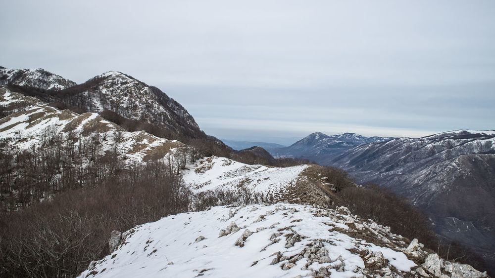 Accellica Mountain View Salerno Avellino Beauty In Nature Cold Temperature Day Landscape Mountain Mountain Peak Mountains Mountains And Sky Nature Outdoors Scenics Sky Snow Tranquil Scene Tranquility Winter
