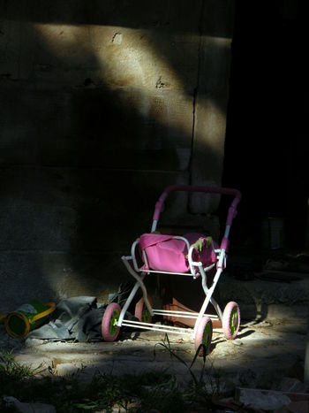 Abandoned Chaos Childhood Doll Dust Dusty Night No People No People, Outdoors Poverty Pram Sadness Stroller Torn Up Toy Transportation