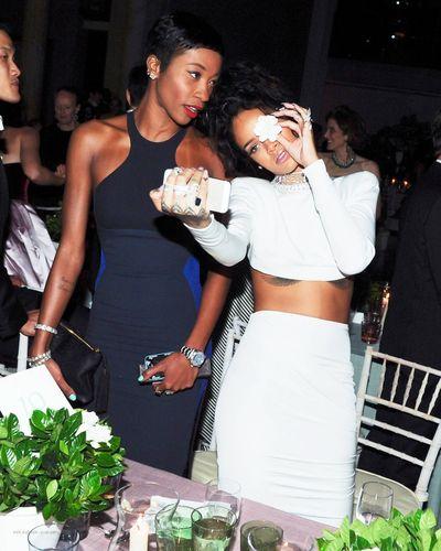 Melissa Forde & Rihanna Best Friends Model Gorgeous Aesthetics Fashion Award Show Selfie Makeup