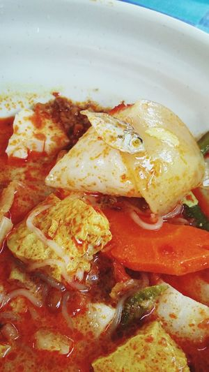 lontong with baby fish.. Traditional Food Of Malaysia Breakfast Of Champions Malaysian Food Lontongsayur BabyFish