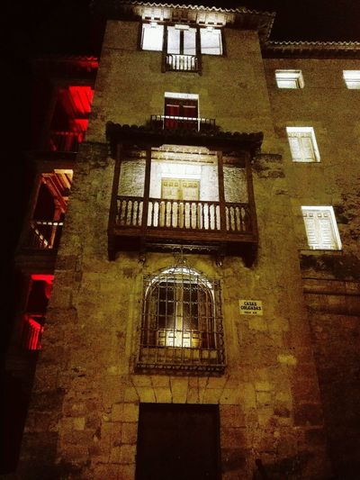 J.J.D.R. Illuminated Night Architecture Indoors  No People Built Structure High Angle View Building Exterior Casas Con Encanto Casas Colgantes Cuenca, Castilla La Mancha, Spain