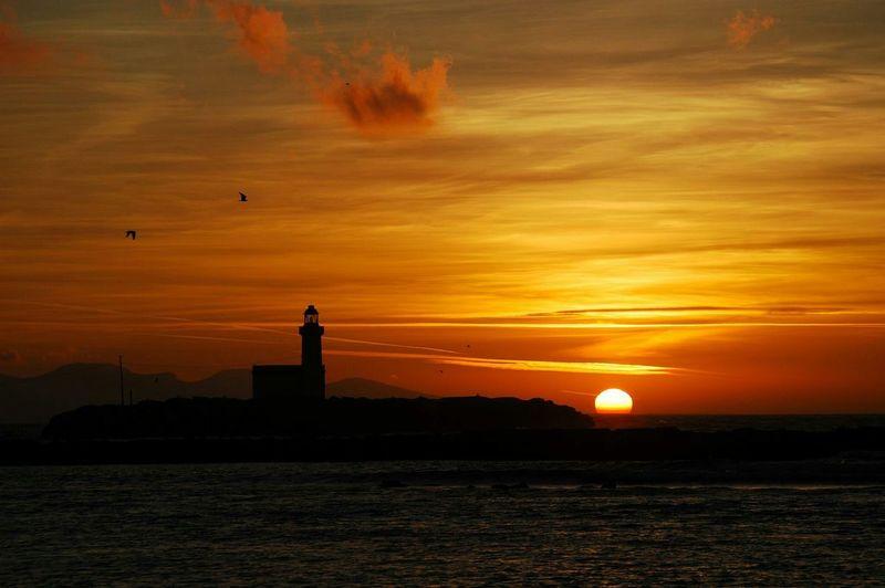 Sunset Sea Faro
