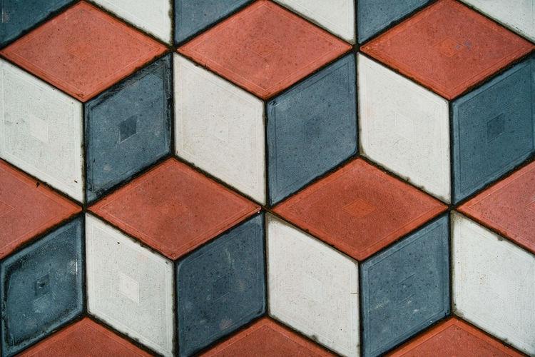 Full frame shot of patterned pavement